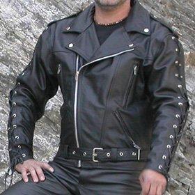 4LIMIT Sports Motorradjacke Leder Sports GSUS SON Biker, Schwarz, Größe L