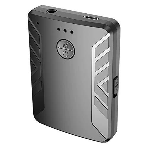 Nicoone Adaptador de audio inalámbrico 2 en 1, 3,5 mm, para PC, altavoces y TV