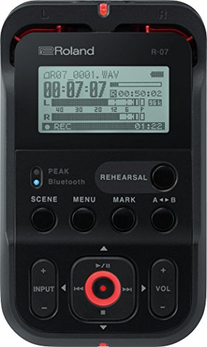 Roland R-07 High-Resolution Handheld Audio Recorder, Black