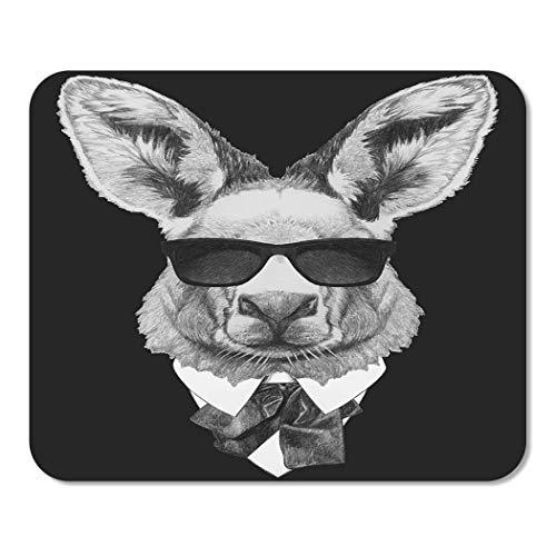 Mousepad Computer Notepad Büro Tier Porträt von Känguru im Anzug Schöne Schönheit Bow Boy Charakter Kragen Cool Home School Game Spieler Computer Worker Inch