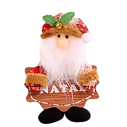 Javntouy Santa Xmas Wool Dolls Tree Decorations Festive Season Pendant Creative Toys Ornament Holiday Indoor Home Party Decor