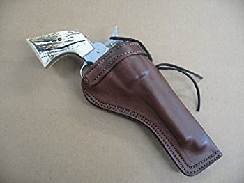 Azula Custom Leather Molded Cross Draw Gun Holster for Ruger Single Six 4 5/8  Single Action Revolver Dark Brown RH