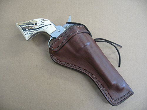 Ruger Blackhawk 7 1/2' Single Action Revolver Leather Cross Draw Holster Dark Brown RH