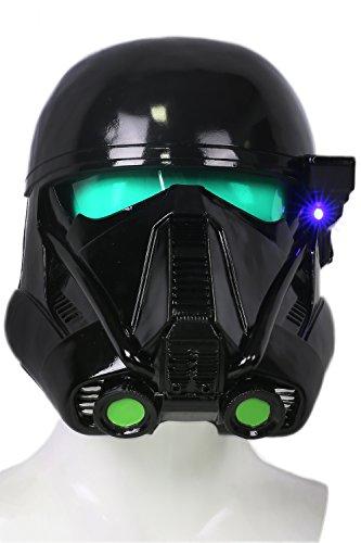 Xcoser Halloween Cosplay Kostüm Helm Deluxe Schwarz Troopers Weich Harz Maske mit LED für Party Verrückte Kleid Merchandise