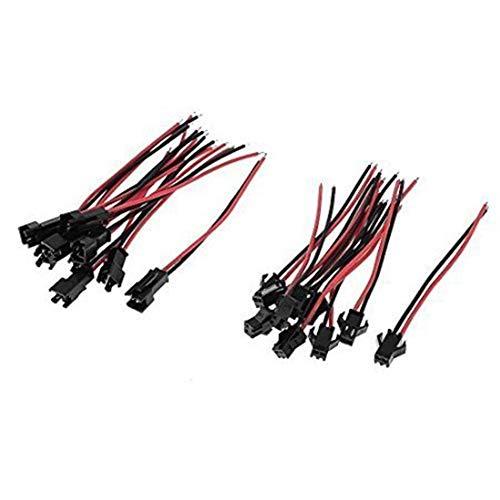 VIPMOON 20 Paar 2 Pins/3-pin/4pol/5pin JST-Stecker Anschluss Kabel Draht Männlich + Weiblich