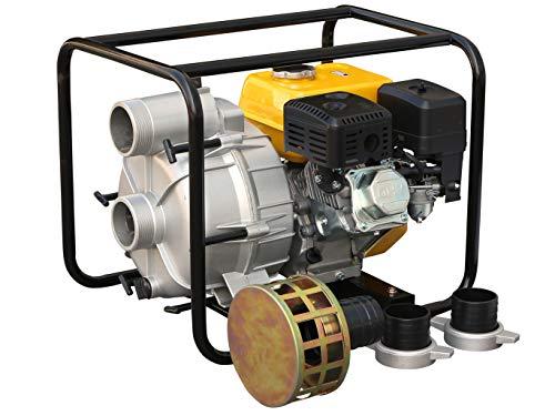 Rotek Schmutzwasser Motorpumpe mit 4-Takt Benzinmotor, 3 Zoll Anschlüsse, bis zu 50m³/h Förderleistung