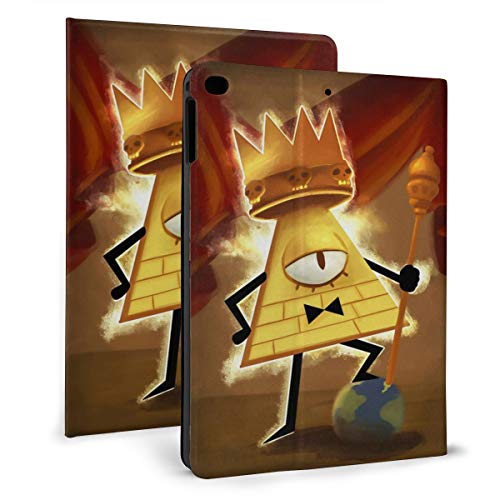 Gravity Falls King of Human Will Bill Cipher iPad Air 1 Gen Case 2013-9.7 Inch with Multi-Angle Viewing, Durable PU Leather Tablet Protective Case for iPad 5th/6th Generation