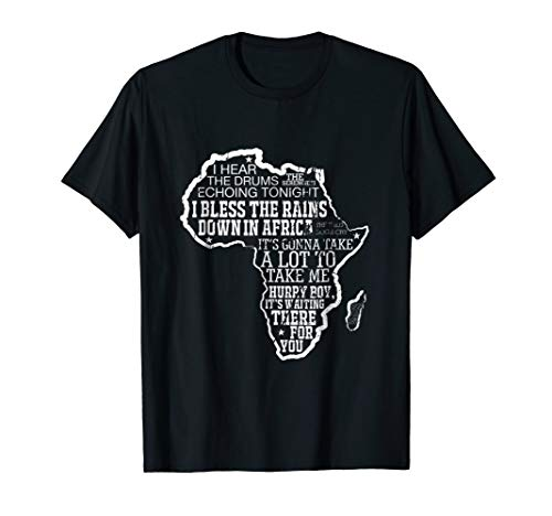 African Map Pride Traditional Bless Rain Toto T-Shirt