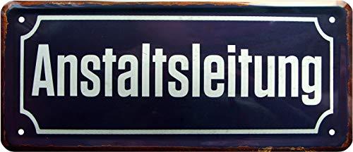 Anstaltsleitung Büro Schild 28x12 cm Deko Blechschild 1225