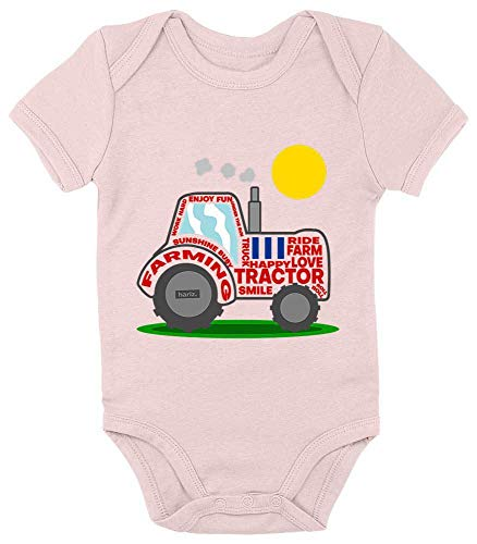 Hariz Baby Body de manga corta tractor sol excavadora ferrocarril Plus tarjeta...