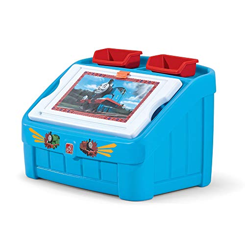 Step2 2-in-1 Toy Box & Art Lid | Plastic Toy & Art Storage Container, Thomas the Tank Engine