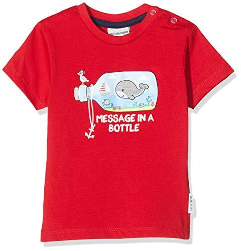 Salt & Pepper Baby-Jungen 03212107 T-Shirt, Rot (Fire Red 377), (Herstellergröße: 92)