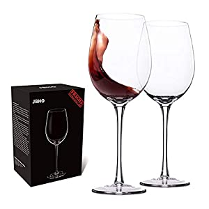 Hand Blown Crystal Wine Glasses – JBHome Wine Glass – 100% Lead...
