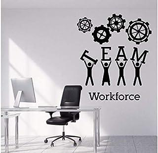 2 Pcs Sticker Mural Vinyle Stickers Teamwork Bureau Décoration Intérieure Creative Art Decal Pour Bureau Chambre 42 * 29 Cm