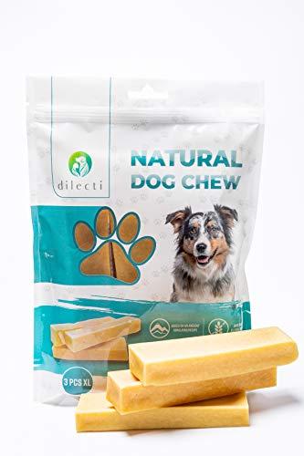 Prodotti da Masticare Naturali per Cani - delizia per Cani di Lunga Durata e Molto gustosa! Gli Snack per Cani Sono Senza OGM o glutine, Gli Snack per Cani Sono inodori! (Set da 3, Taglia XL)