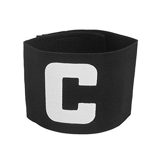 YeVhear Letra C estampada Stretchy Soccer Deportes Captain Brazalete Sleeve Negro