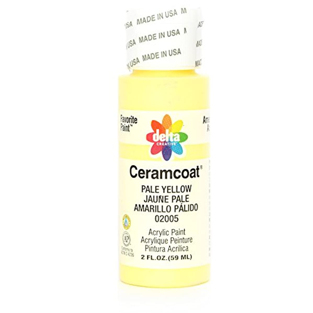 Delta Creative Ceramcoat Acrylic Paint in Assorted Colors (2 oz), 2005, Pale Yellow