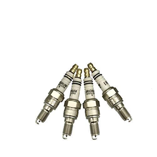 ADFIOSDO Bujía EHIX-CR9-9 2 UNIDS/Lot/Ajuste for CR9EHIX-9 CR9EH-9 IUH27 U27FERZ-U9 XS4302 CR8EHIX-9 CR8EH-9 IUH24 Bujia CBR400 (Color : Metallic)