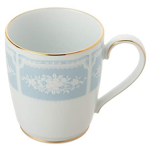 Noritakeノリタケマグカップ(色変りペアセット)280ccレースウッドゴールド2個ブルー・ピンクファインポーセレンP9755A/1507-14