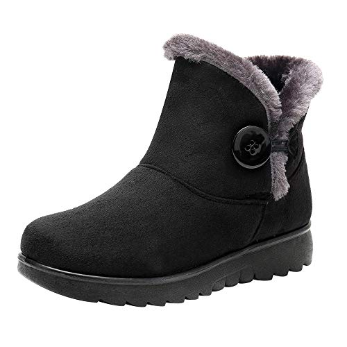 Botas Mujer Invierno 2019,ZARLLE Zapatos Invierno Mujer Botines Mujer Planos Botas de Nieve Calzado Caño Ropa de Mujer Botines y Botas de Mujer Zapatos cómodos Mujer Zapatos de Mujer 35-41