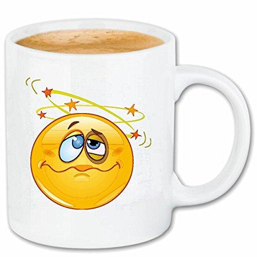Reifen-Markt Kaffeetasse Smiley MIT BLAUEM Auge DER DIE Sterne Sieht Smileys Smilies Android iPhone Emoticons IOS GRINSE Gesicht Emoticon APP Keramik 330 ml in We