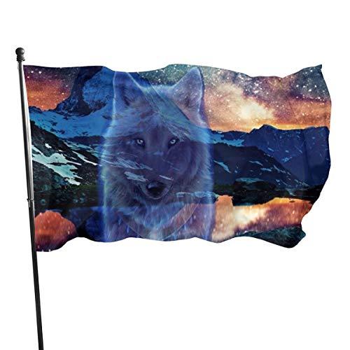 Matterhorn Wolf Fahne für den Außenbereich Flagge Haus Flagge Fahne Flagge Fahne Flagge 3 x 5 Füße