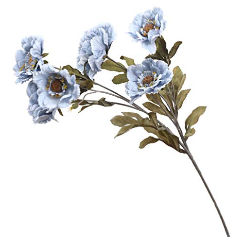 Garneck Kunstmatige pioenrozen, boeket voor bruiloft, vaas, decoratie, tafeldecoratie, blauw