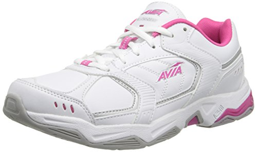 Avia Women's Tangent-W, White/Pink Scorch/Chrome Silver, 10 M US