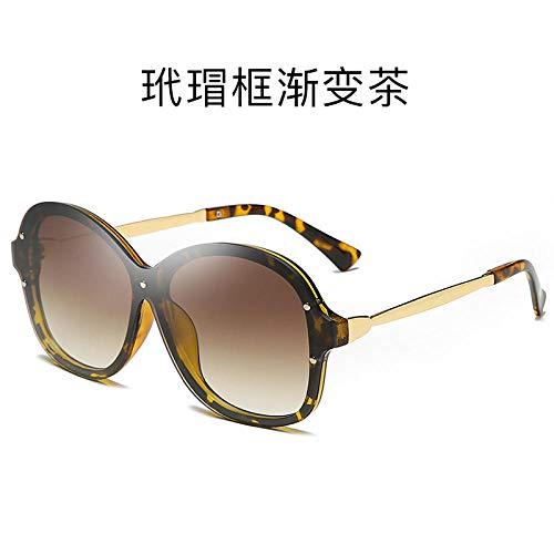 LAOGEFJ Neue MIU Personality One Piece Sonnenbrille Trend Sonnenbrille Frauen All-Match Sonnenbrille