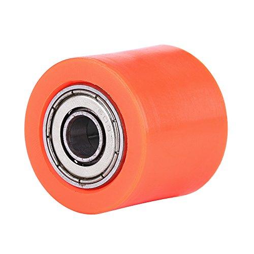 Rodillo tensor de cadena de polea de 8 mm, guía de rueda tensor deslizante de rodillo de polea de cadena de transmisión para motocicleta de calle ATV(naranja)