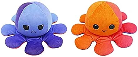 Double-Sided Flip Plush Toys, Reversible Cartoon Mini Doll Creative Toys | Show Your Mood Without Saying a Word,Safe &...