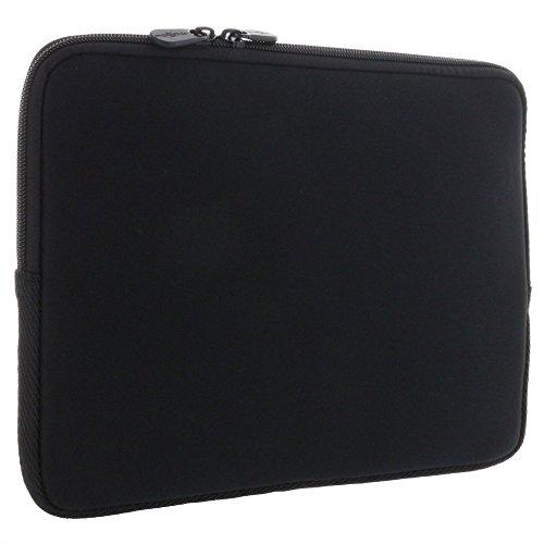 XiRRiX universal Laptoptasche 10 Zoll (25,4cm) - Tasche Neopren Schutzhülle Laptop Notebook mit Fach für Computerzubehör - schwarz
