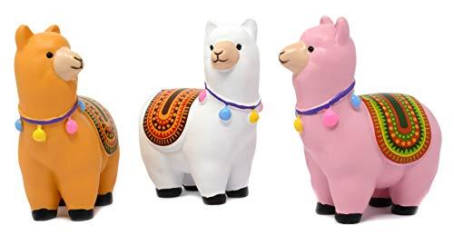 Piquaboo 3er Set Bunte Llamas Alpaka Figuren