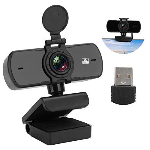 Jarchii USB-Webcam, Plug und Play, langlebige 1440P-Desktop-Kamera zur Rauschunterdrückung, für Videos Online-Vorlesungen Line Broadcast-Videokonferenz(pc-05)