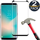 [2 Pack] Galaxy S9 Plus Screen Protector, Samsung S9 Plus Tempered Glass [Case Friendly][Anti-Bubble][3D Curved Coverage][9H Hardness][Ultra Clear] Screen Protector for Samsung Galaxy S9 Plus