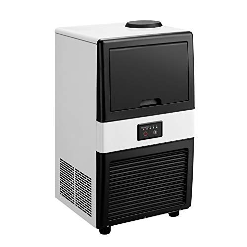 Doit Commercial Ice Maker Machine,Freestanding Ice Cube Maker Makes 40 lbs /24 hrs with 17lbs Storage Capacity,Ideal for Restaurants,Bars,Coffee Shop