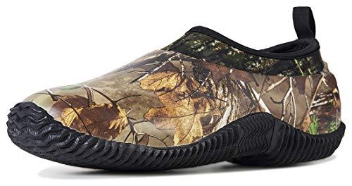 TENGTA Unisex Waterproof Rain Shoes Men Neoprene Rubber Yard Work Boots for Wet Weather Women Garden Shoes Camo 10.5
