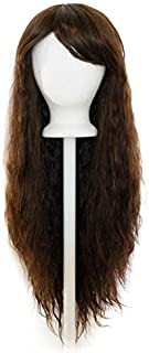 Fae - Espresso Brown Wig 30'' Crimped Cut with Long Straight Bangs - style designed by Tasty Peach Studios