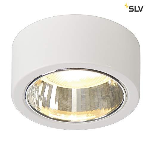 SLV Deckenleuchte CL 101 | Runde Deckenlampe LED zur Beleuchtung innen | Dezenter Deckenstrahler rund, Innen-Leuchte LED, Wohnzimmer-Lampe, Flur-Leuchte, LED Strahler Decke | GX53, max. 11W, EEK B-A++