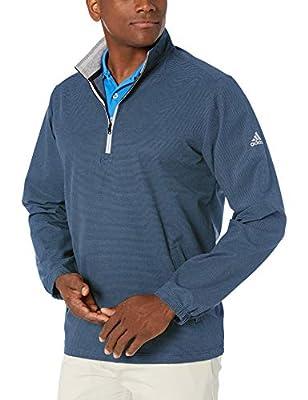 adidas Golf Men's Club Wind Jacket, Collegiate Navy, Large