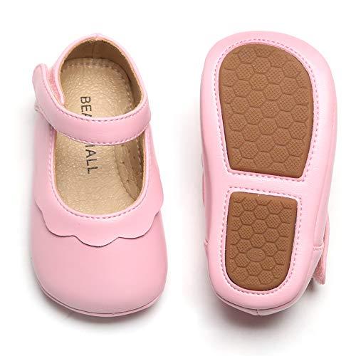 Polo Ralph Lauren baby girls Percie Light Pink Stripe Ballet Flat, White/Pink, 3 Infant US