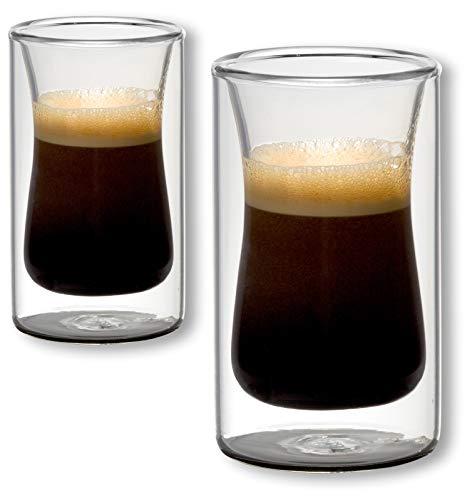 1aTTack.de 833406 Trink/Thermo-Glas 120 ml doppelwandig Modell Amy für Heiß- und Kaltgetränke, 2-Stück