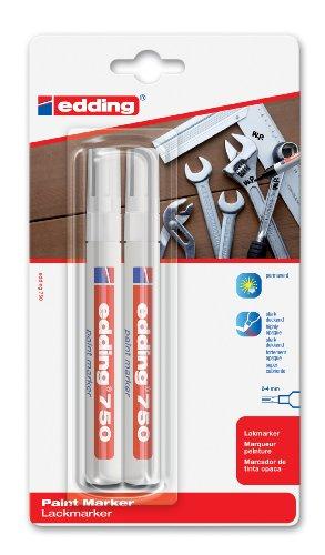 edding 4-750-2-3049 Lackmarker 750 Industrie, 2-4 mm, weiß