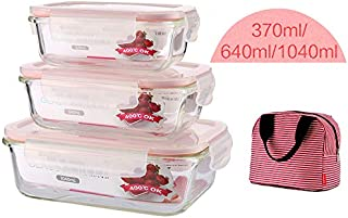 MFWFR Fuguang Glass Lunch Box, Lunch Box, Office Worker Storage Box, Special Bowl for Microwave Oven, Cover,M2