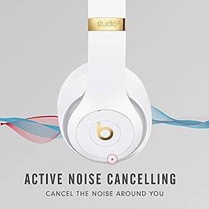 Beats Studio3 Wireless Over‑Ear Headphones - White (Latest Model)