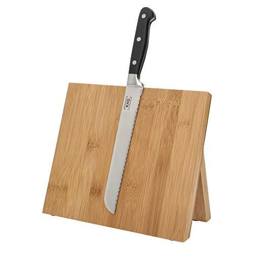KHG Magnetisches Messerbrett aus Bambus Universal-Block Messerhalter