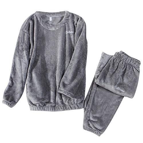 YYNUDA Ensembles de Pyjama en Polaire Pyjama 2 Pièces Vêtements de Nuit pour Femme Fille