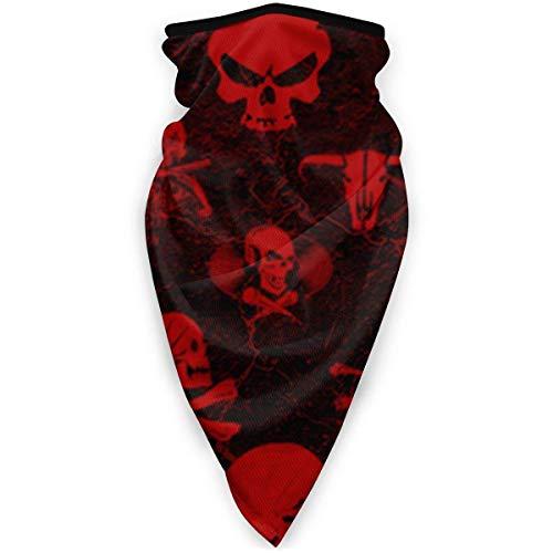 Fenrris65 Hallowmas - Pañuelo para hombre, diseño de calavera de terror, unisex, a prueba de viento, para exteriores, para el cuello, bandana, pasamontañas