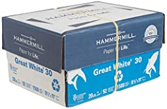 Made in USA - Hammermill copying and printing paper is 100% made in the USA, helping to support 2.4 million sustainable forestry jobs in America, including family tree farmers. Hammermill is more than just paper. See images. 99.99% jam-free guarantee...