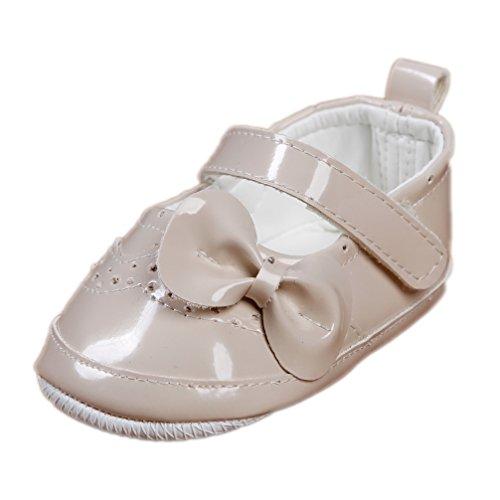 Festliche Babyschuhe Ballerinas beige Lack Taufschuhe Gr. 19 Modell 4693